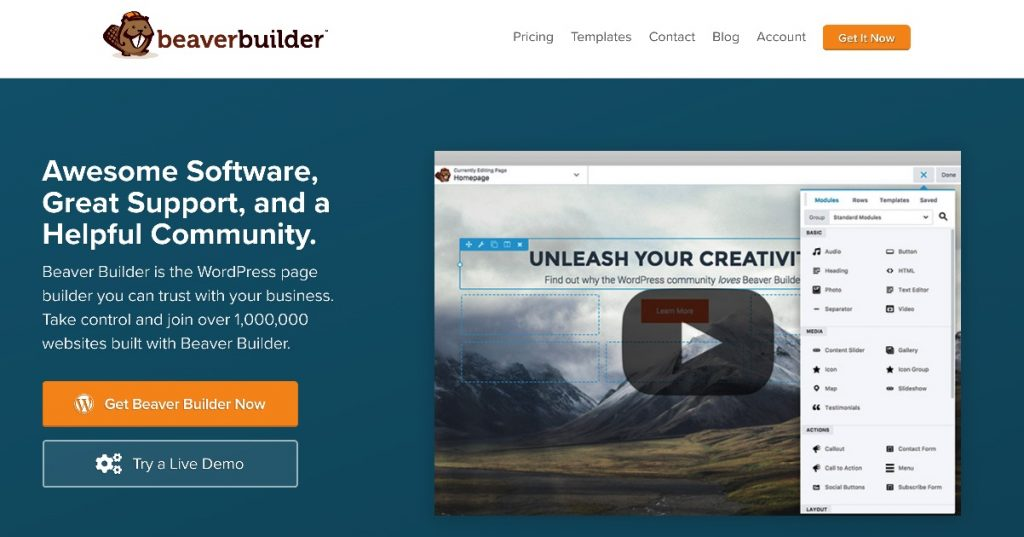 beaver builder website
