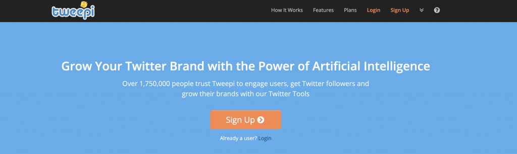 tweepi and artificla intelligence applied on your twitter brand