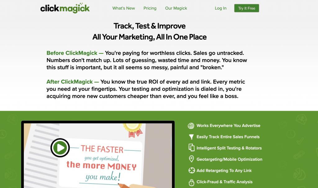 clickmagick website