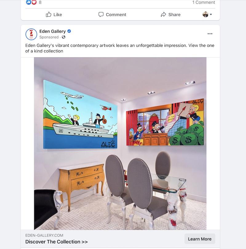 native facebook advertising example